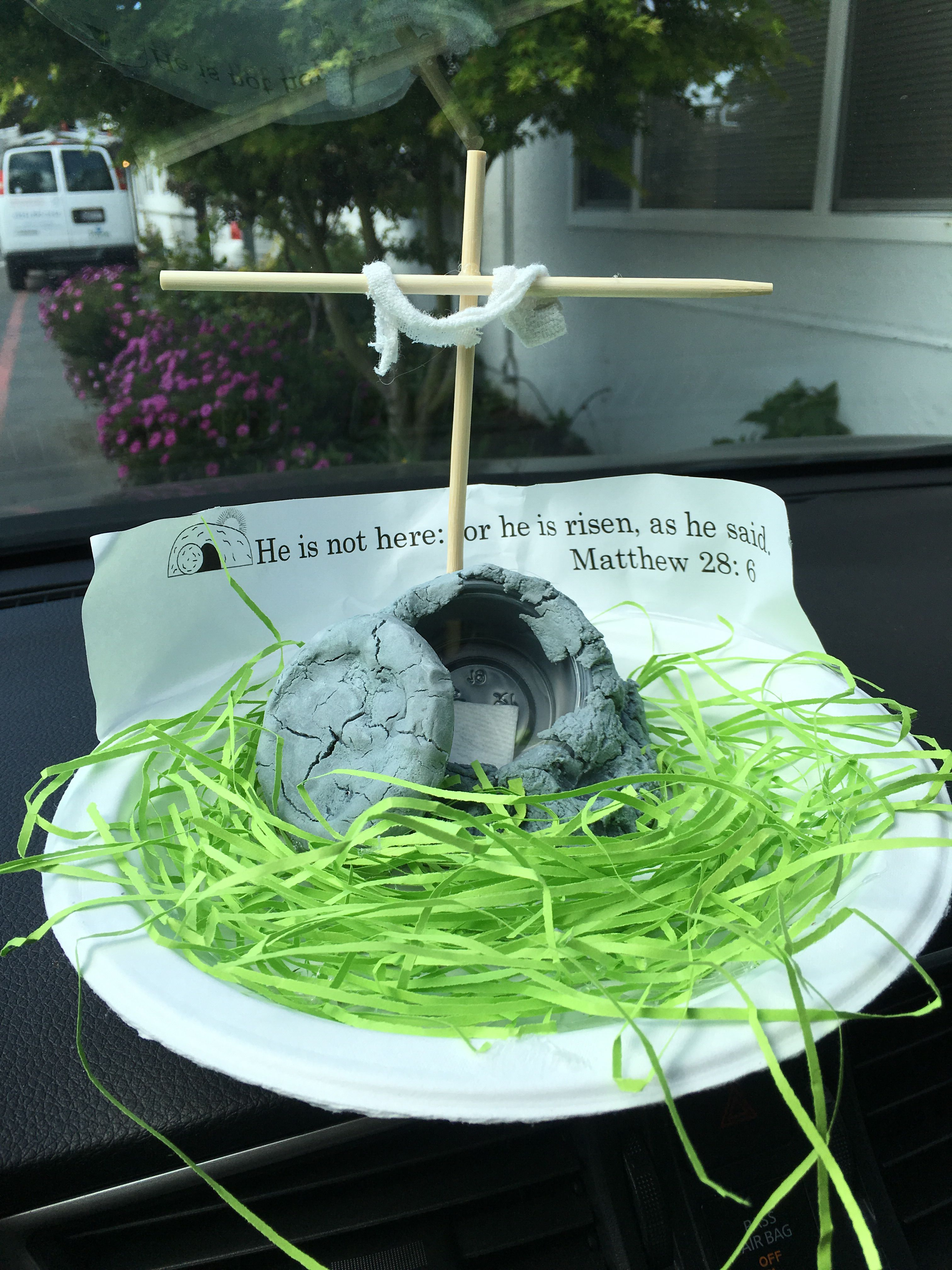 Empty tomb craft. This simple air dry clay is wrapped