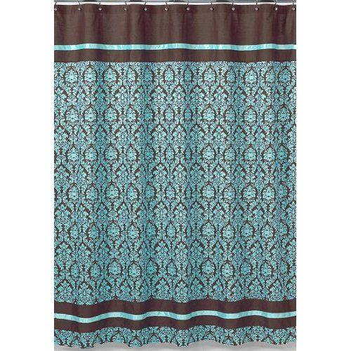 Amazon Com Turquoise And Brown Bella Kids Bathroom Fabric Bath