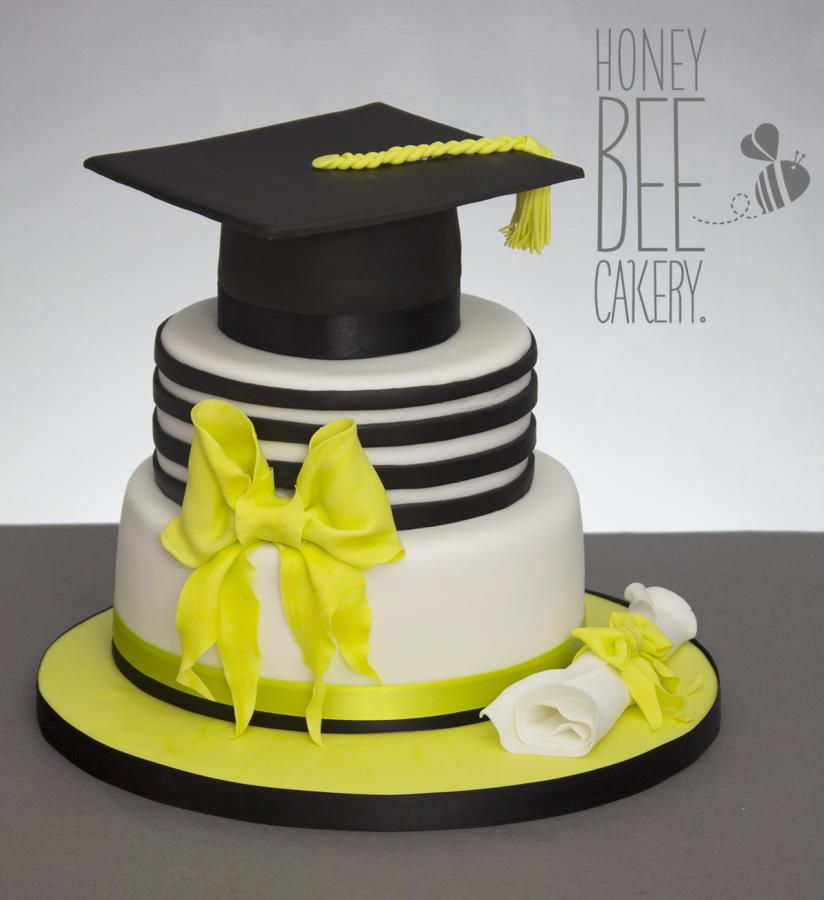 Chloes Graduation Cake by The HoneyBee Cakery - Cake by ...