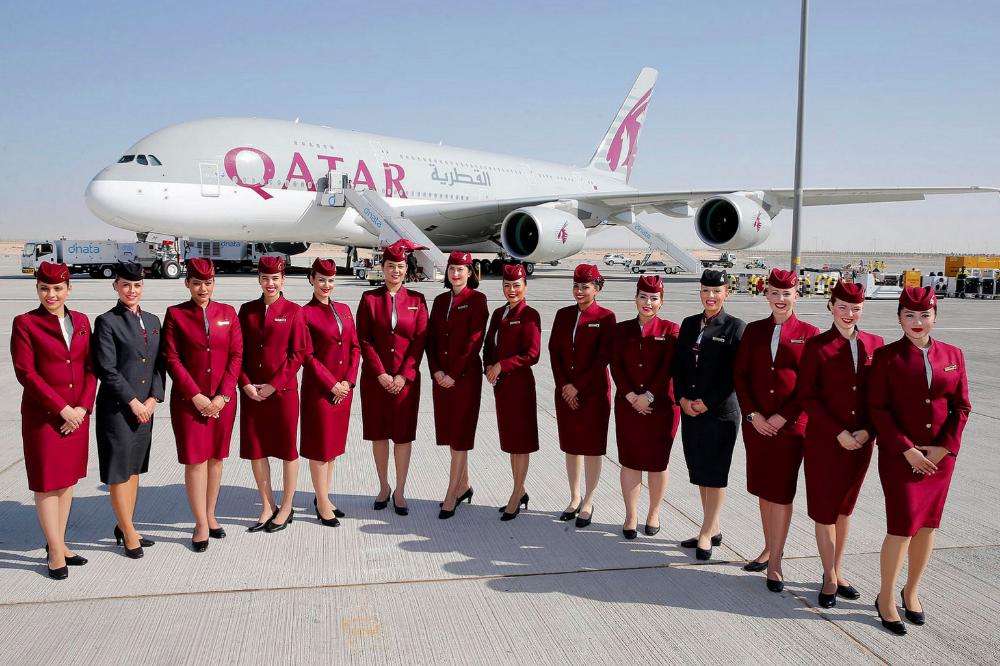 10 best airlines in the world Qatar airways, Qatar