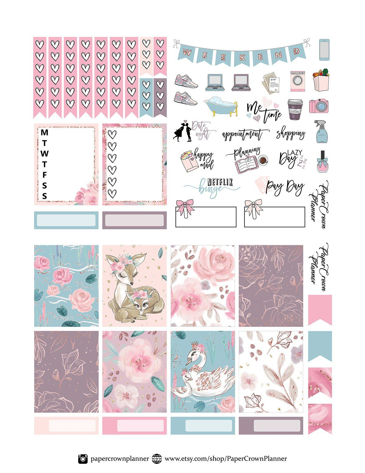 mommy and me printable planner stickers mother 39 s day weekly kit for erin condren planner. Black Bedroom Furniture Sets. Home Design Ideas