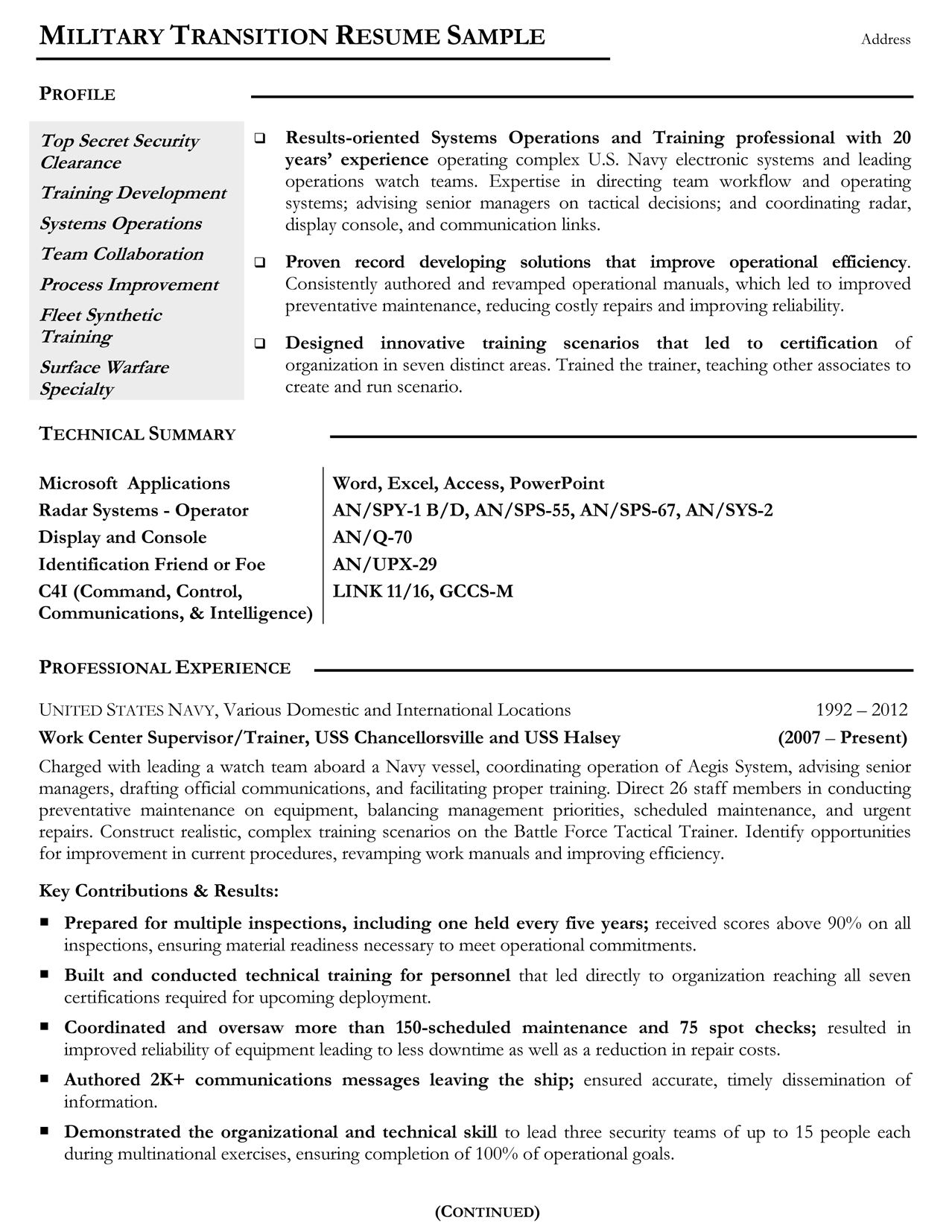 Veterans Resume Templates Pinterest Sample Resume Template