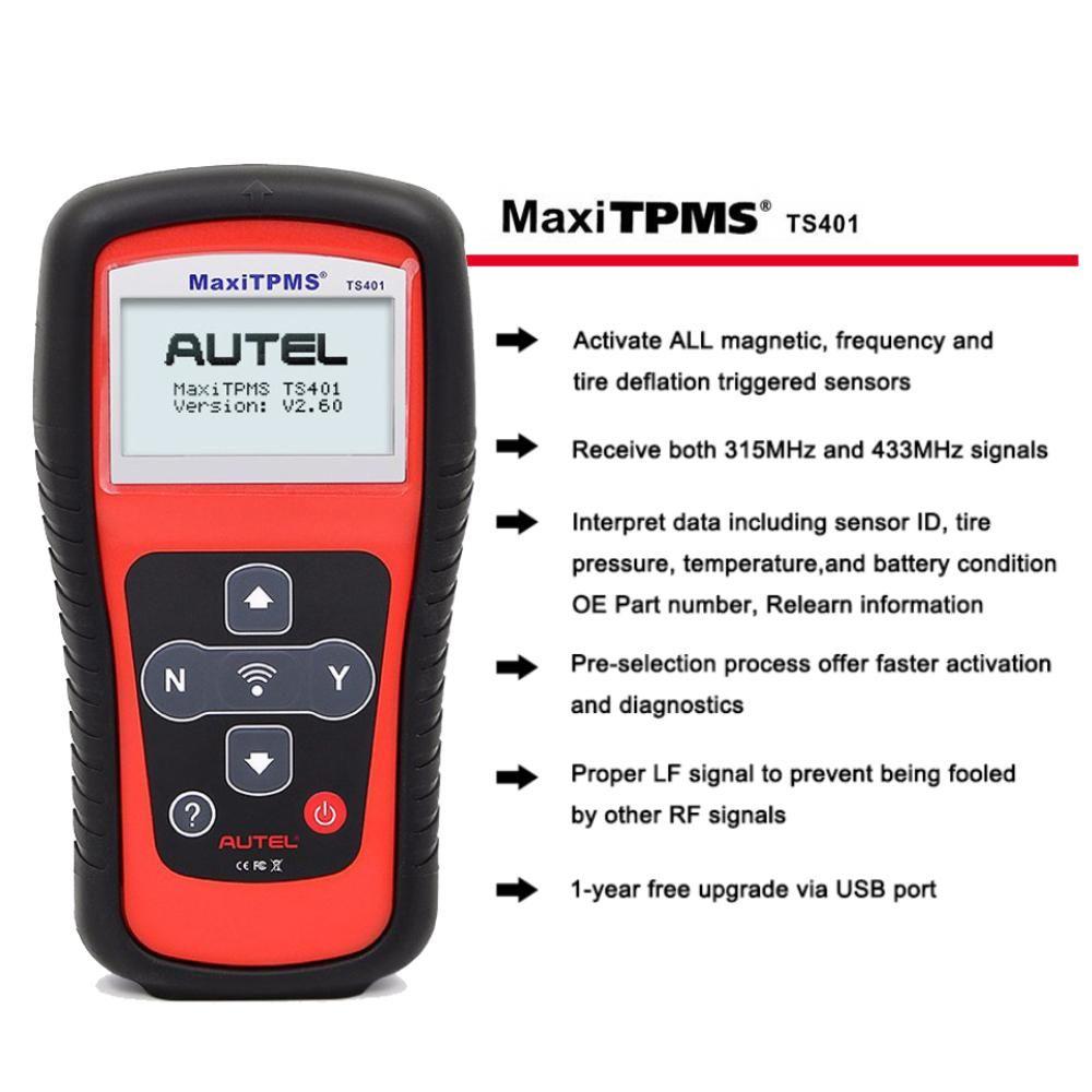 AUTEL TPMS Auto Reader Tool Tyre Tire Pressure Monitor Car Sensor MaxiTPMS TS401