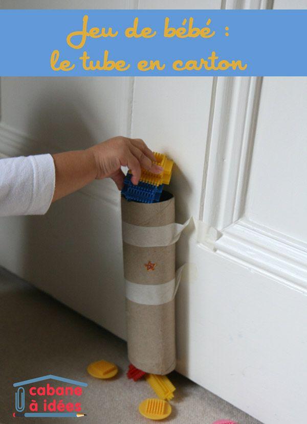 Jeu de bébé  le tube en carton Idées de peintures Pinterest - sorte de peinture pour maison