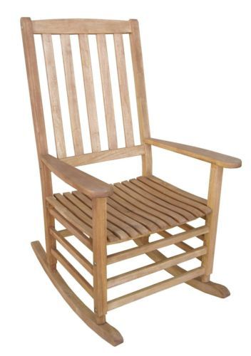 New Large Oversized Classic Wooden Rocking Chair Wide Arm Rest