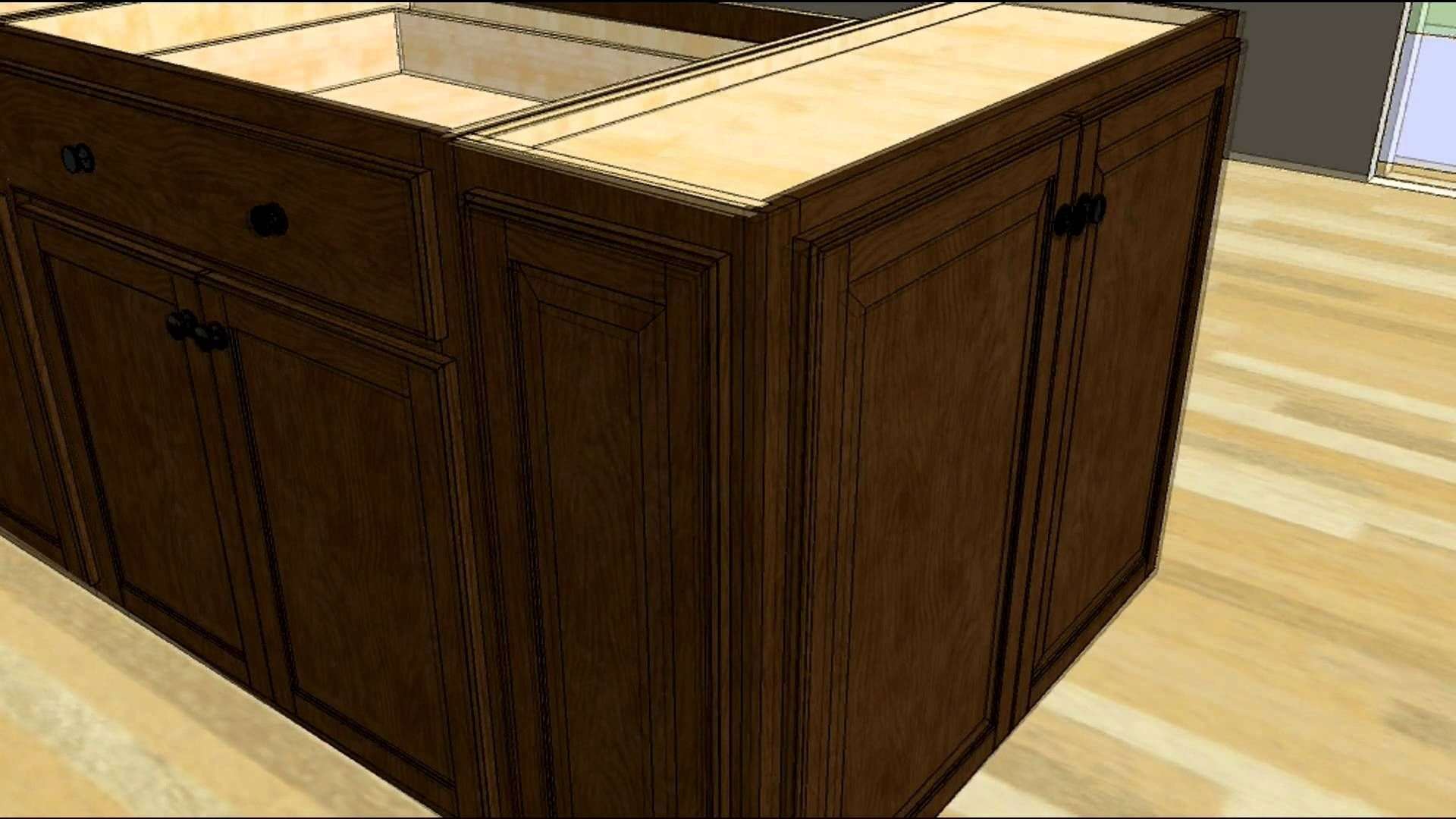 Make kitchen island from base cabinets kitchen cabinets