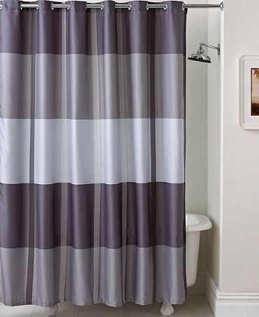 Purple And Silver Shower Curtain