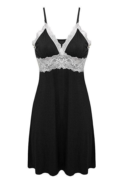 769e972ae8 Beyond Intimates Sleepwear Women Nightgowns Soft Chemises Lace Lounge Dress  ZE0106