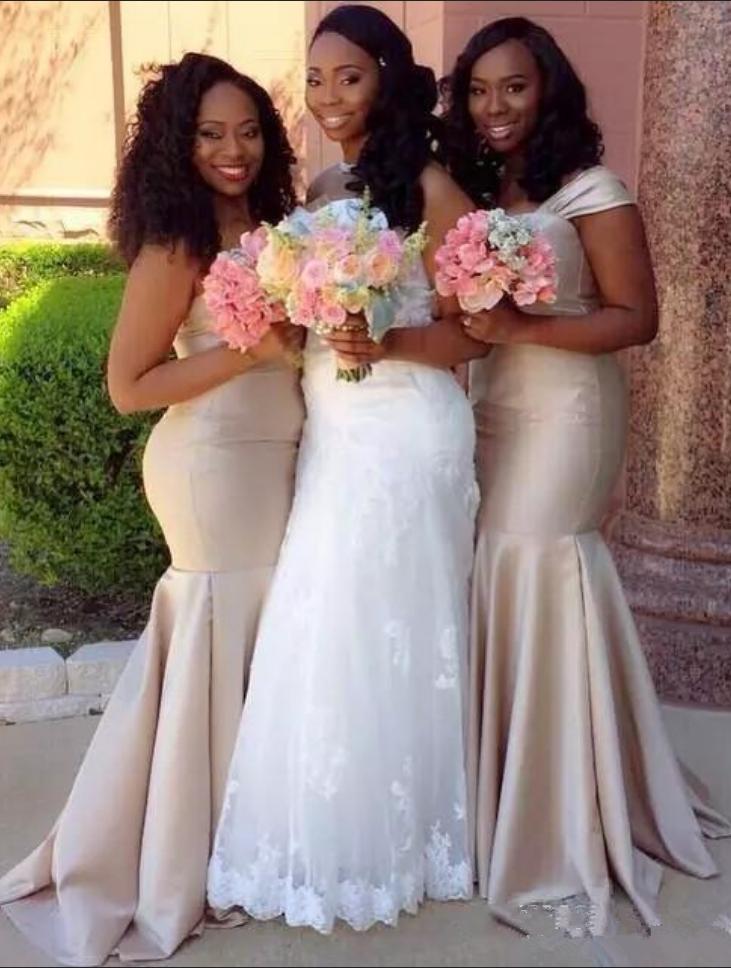 03515dc5a9 New Champagne African Bridesmaid Dresses Off Shoulder Mermaid  Bridesmaid   Bridesmaiddress  dress  fashion  love  shopping  art  dress  women  mermaid   SEXY ...