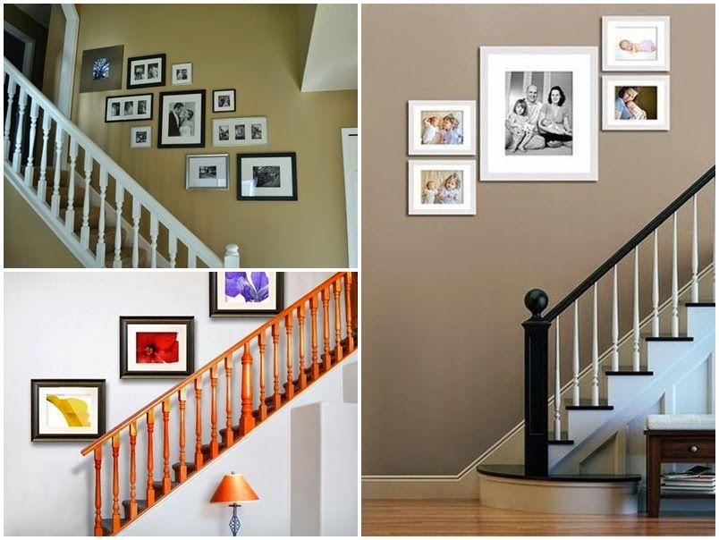 Como colocar los cuadros en la escalera cosas de casa for Como decorar una escalera