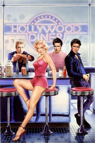 Marilyn Monroe James Dean Diner | The Fab Foursome at the bar ...