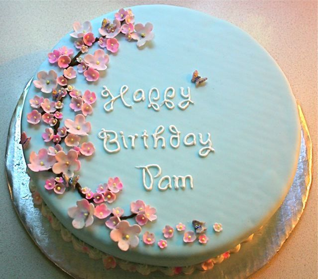 Simple Decoration Ideas For Cake : Birthday cake with flowers Cake decorating...one day ...