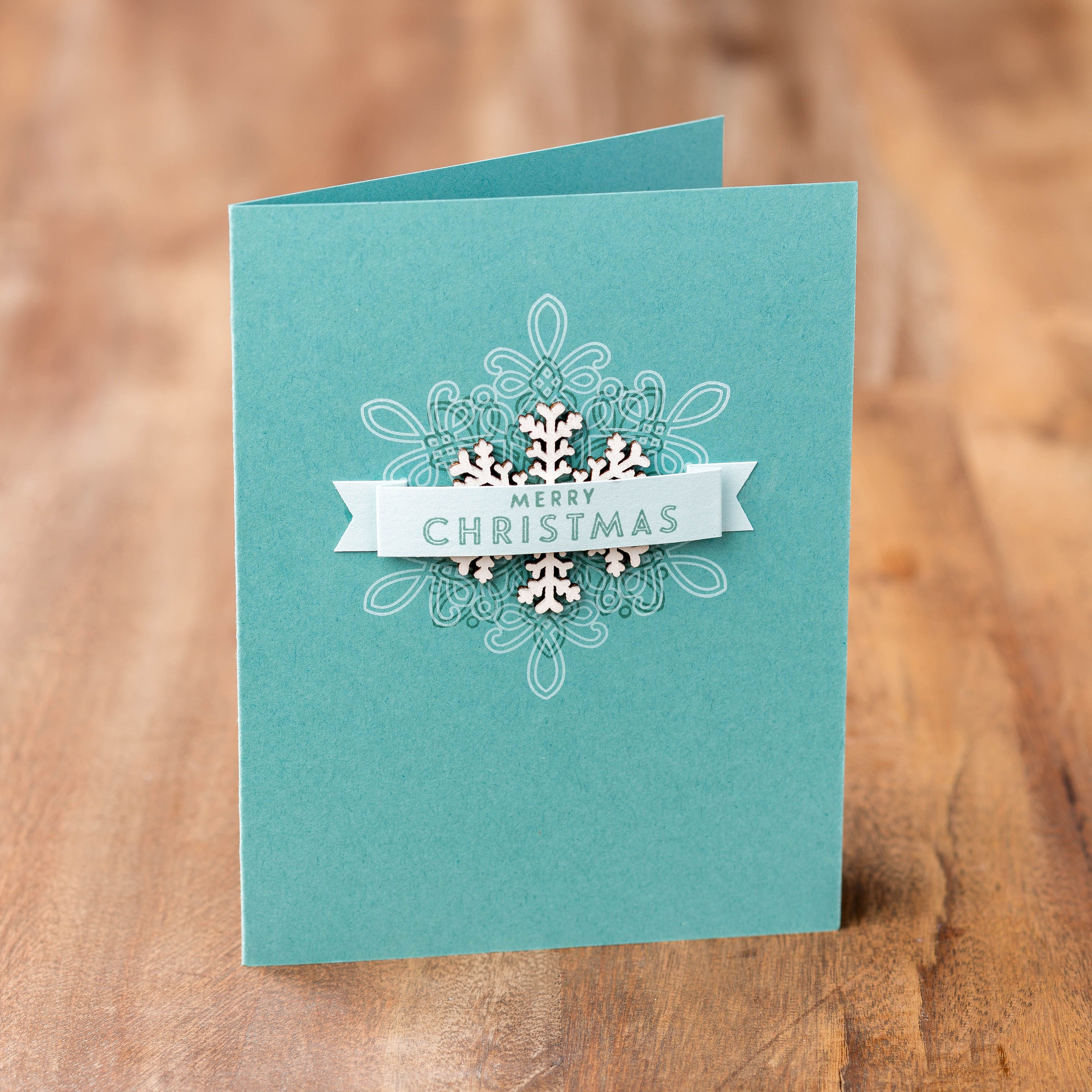 Card Making Ideas Christmas Stampin Up Part - 31: This Quick And Easy Card Was Made With The Flurry Of Wishes Stamp Set.