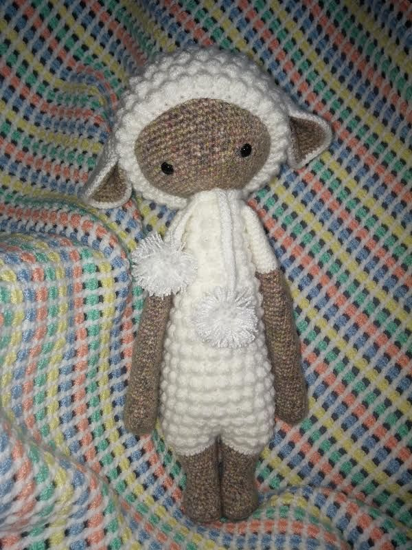 LUPO the lamb made by Stefi T. / crochet pattern by lalylala