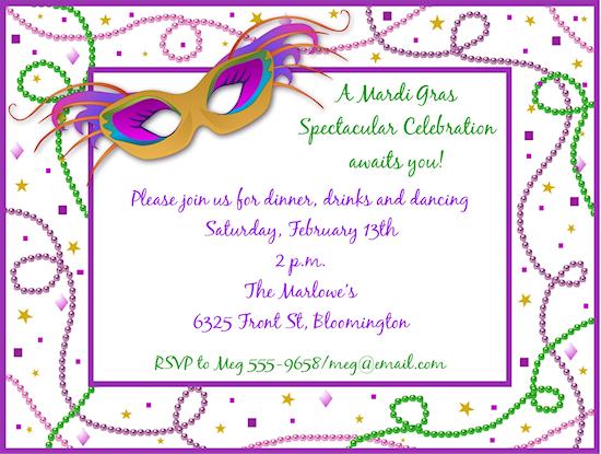 Mardi Gras Masquerade Ball Invitations – Masquerade Party Invitations Free