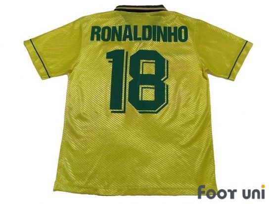 brazil 1995 home ronaldinho classic old clothes it is the net shop of vintage