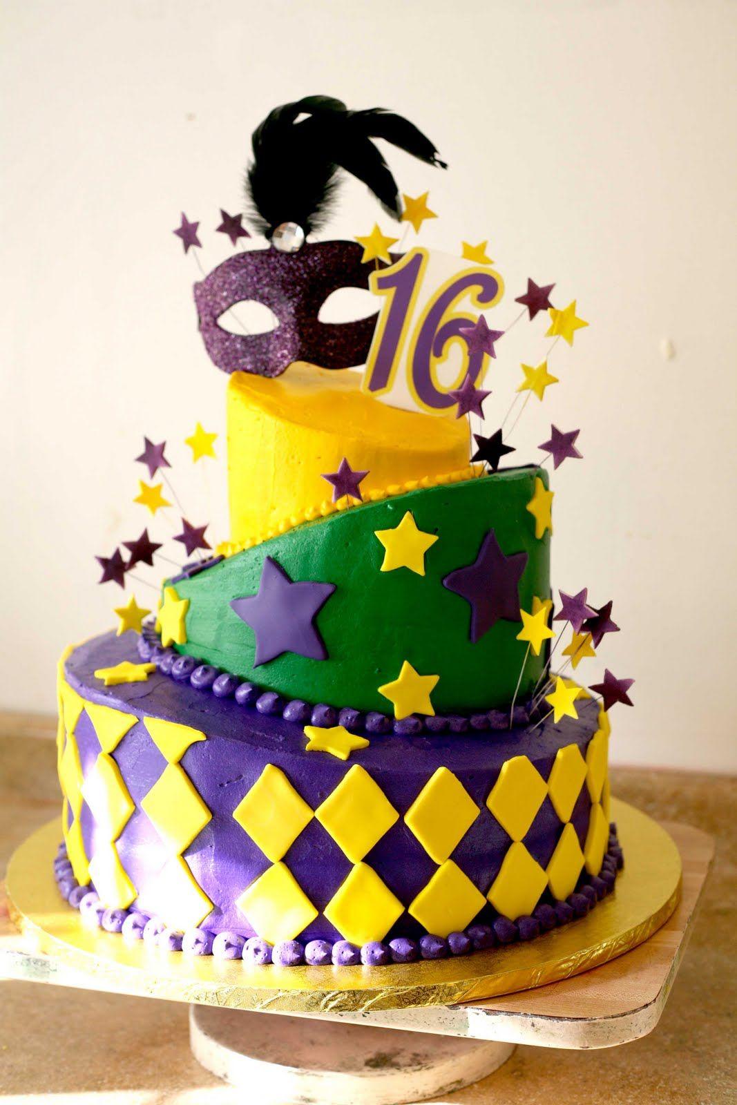 Mardi Gras Birthday Cake Mardi Gras Cakes Pinterest Mardi
