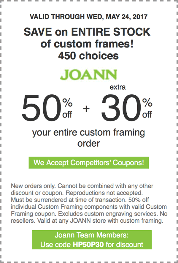 50% off plus extra 30% off your entire custom framing order. | art ...