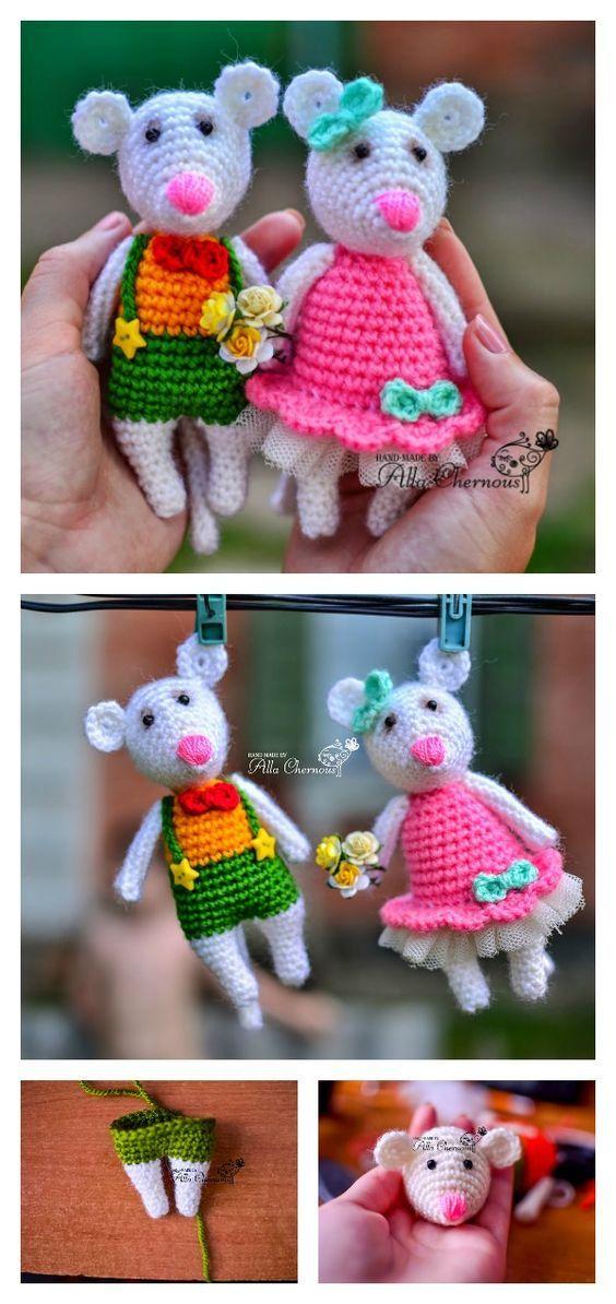 Free Mini Mouse Crochet Patterns | Patrones amigurumi, Patrones y ...