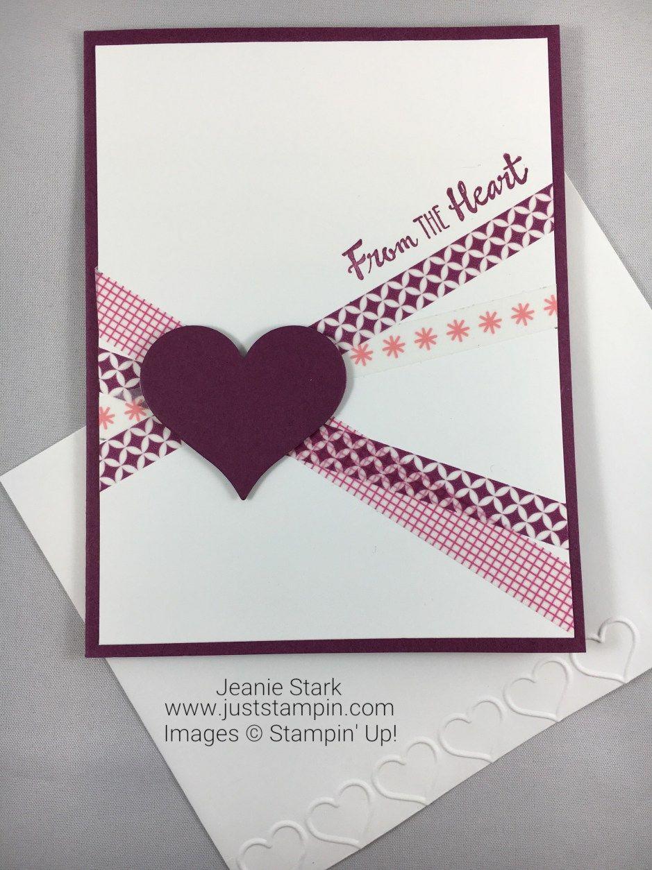 Stampin Up Petal Palette washi tape card idea - Jeanie Stark StampinUp