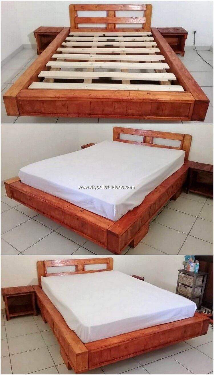 Easy And Simple Diy Wood Pallet Crafting Ideas Simple Bed