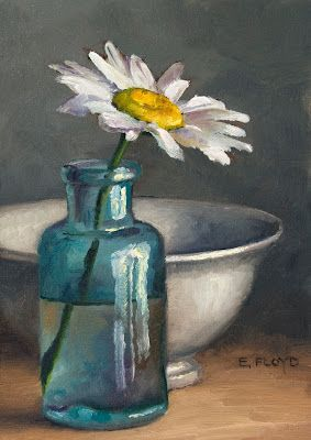 Daisy {a new floral painting}