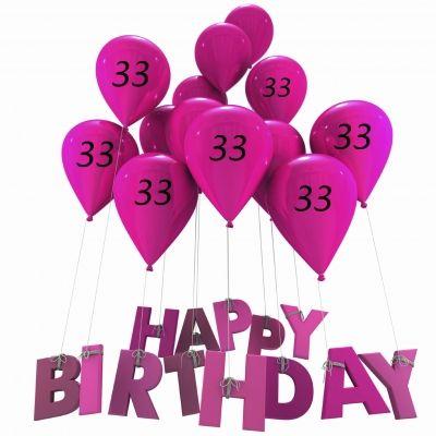 Happy Birthday 33 Images Verstuur Een Kaart Zoals 33 Jaar Jarig