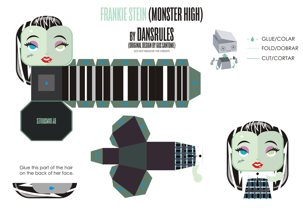 PaperToy_MonsterHigh - Frankiestein