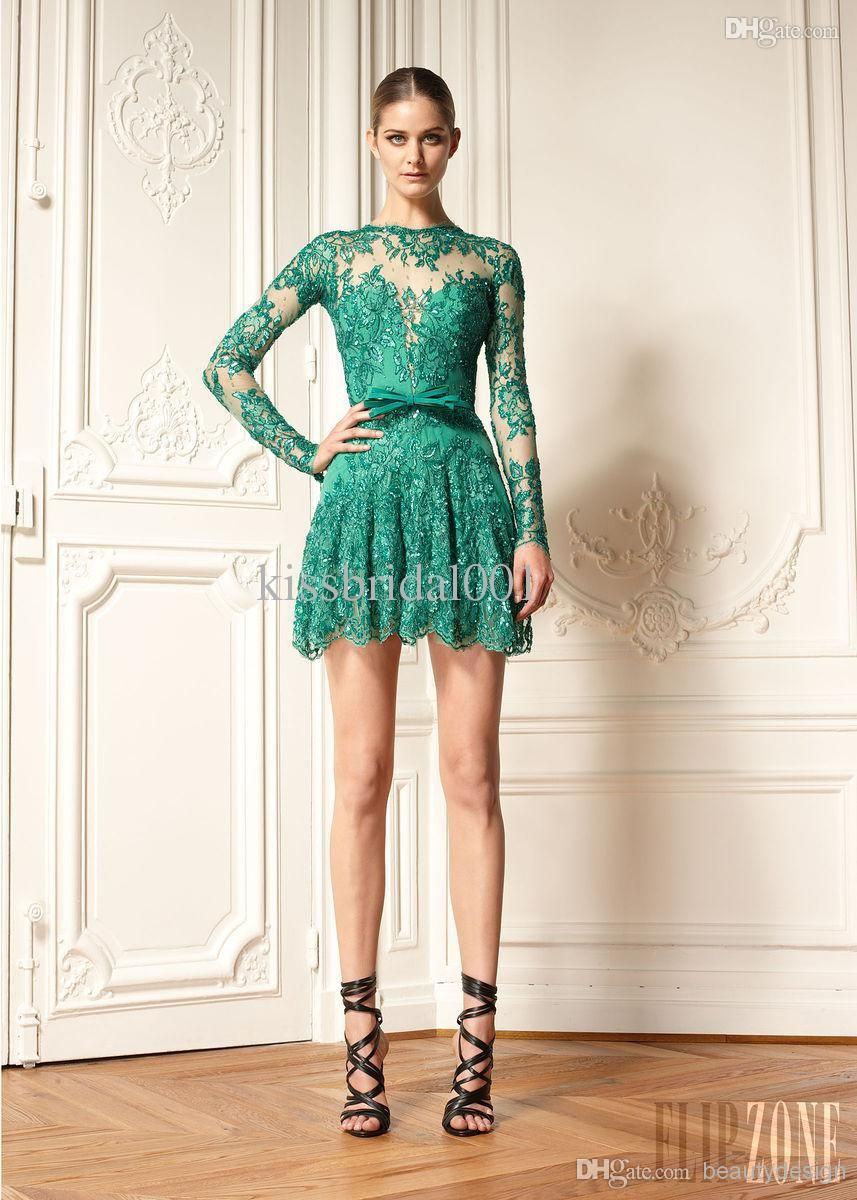 Green Zuhair Murad Style Lace Dress $170 | Cocktail Dresses ...
