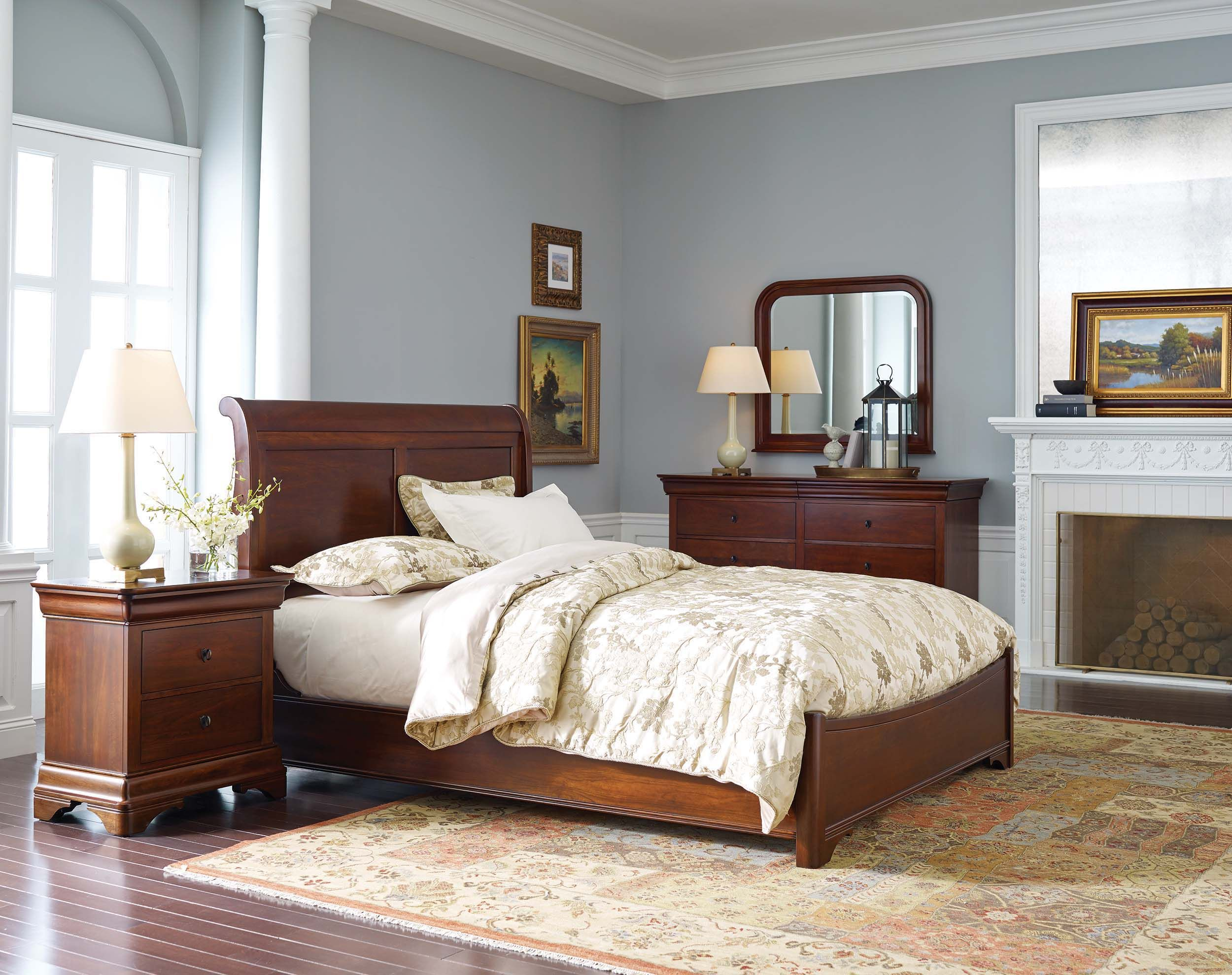 Amazing Nichols Stone Marseilles Sleigh Bed Bedroomfurniture Home Interior And Landscaping Synyenasavecom
