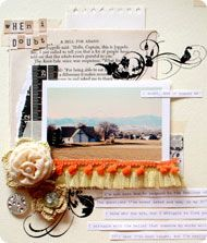 Image from our new workshop taught by #CourtneyWalsh, Scrapbooking Your Faith