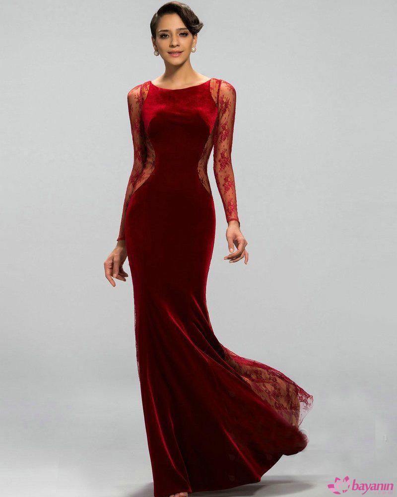 Kadife Elbise Modelleri Aksamustu Giysileri The Dress Elbise