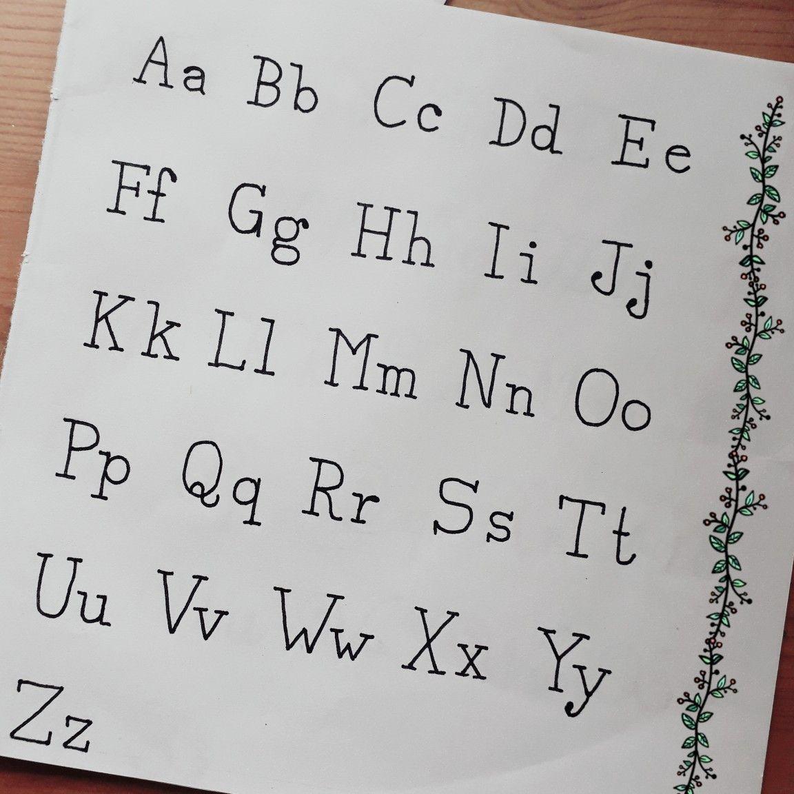Handlettering Schriftarten Alphabet Schreibmaschine