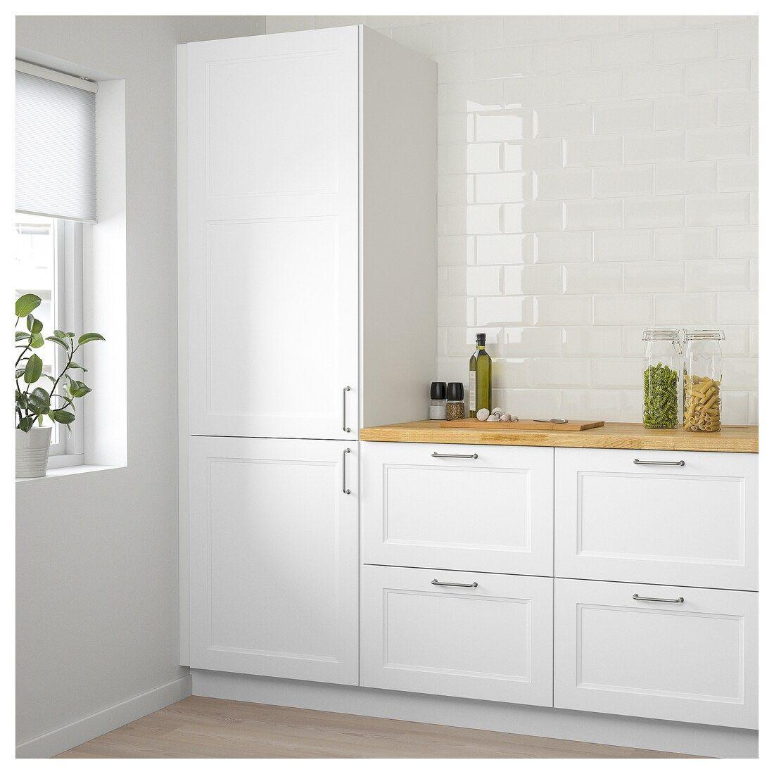 """Meuble Micro Onde Ikea axstad door - matt white 21x40 """" en 2020   cuisines design"""