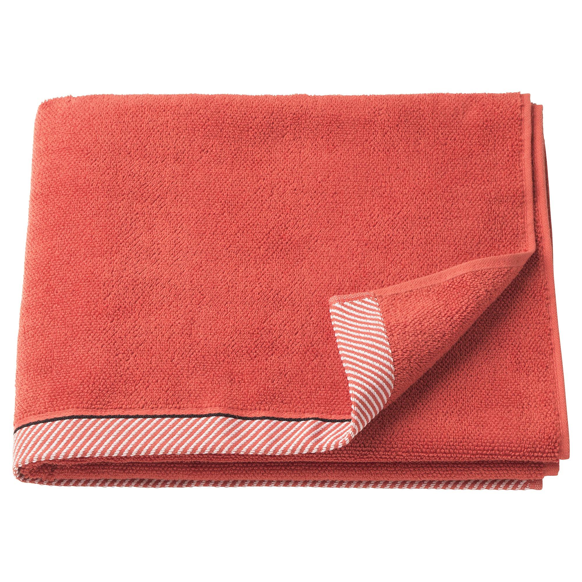 Vikfjard Bath Towel Red 28x55 70x140 Cm Bath Towels Towel