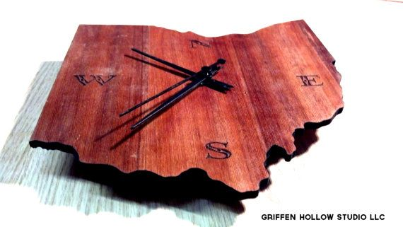 Ohio Shaped Clock Google Search Clock Home Decor Custom Engraving
