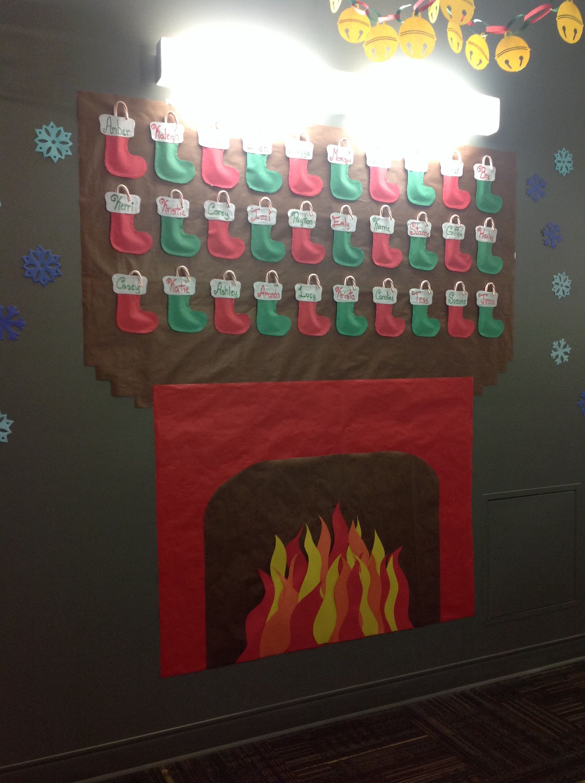 fireplace with stockings for residents submission by amber d
