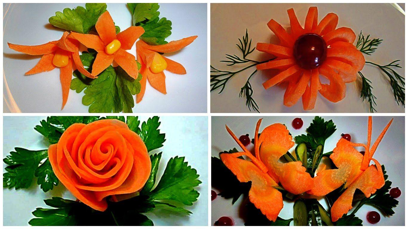 Цветы из овощей своими руками пошаговое фото для начинающих