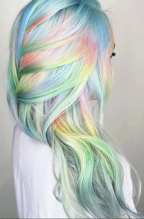 Zehn Regenbogen Frisuren Um Jetzt Solidaritat Zu Zeigen Haarfarben Frisuren Haarfarbe Ideen