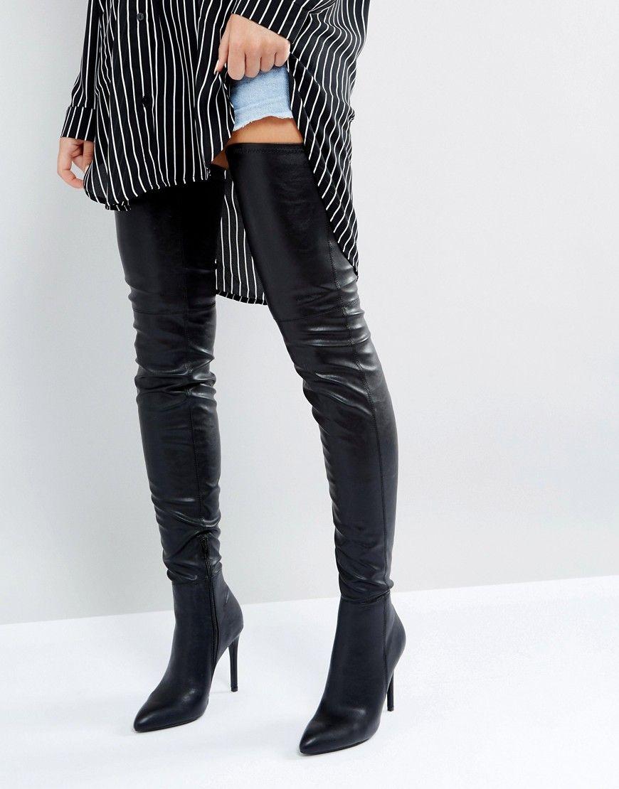 c3de50a947 Steve Madden Kristen Over The Knee Boots - Black | Boots in 2019 ...
