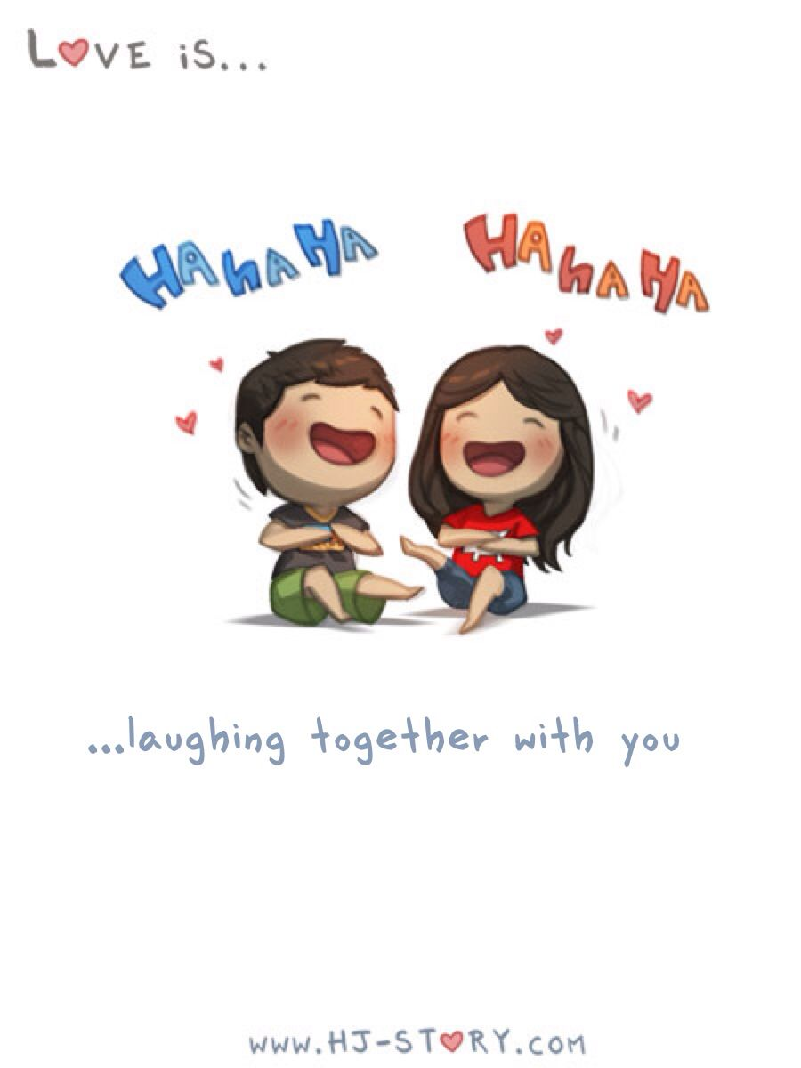 Laughing Together Cute Cartoon Quotes Cartoon Love Quotes Cartoon Quotes