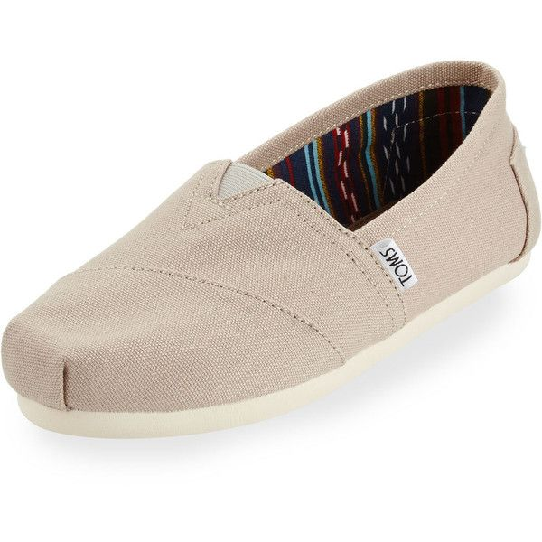 9f12da666ca TOMS Classic Alpargata Canvas Slip-On ( 48) ❤ liked on Polyvore featuring  shoes