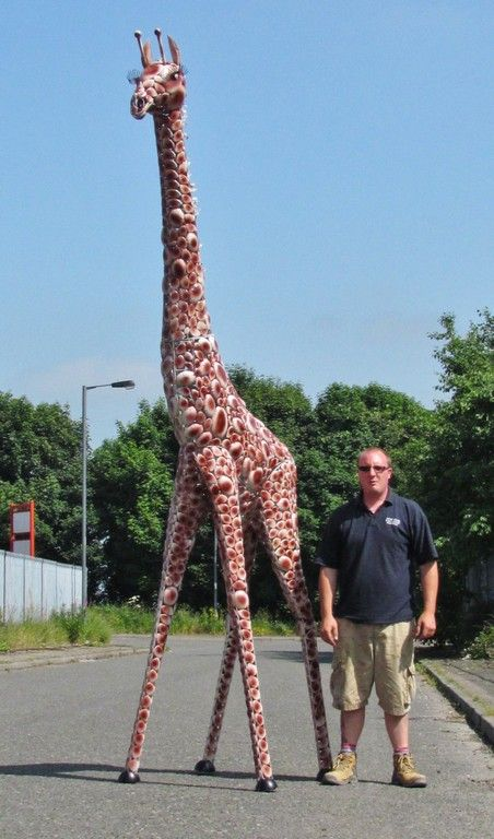 Superior Large Giraffe. Has The Most Amazing Eyes And Lashes And Is A Stunning Garden  Ornament