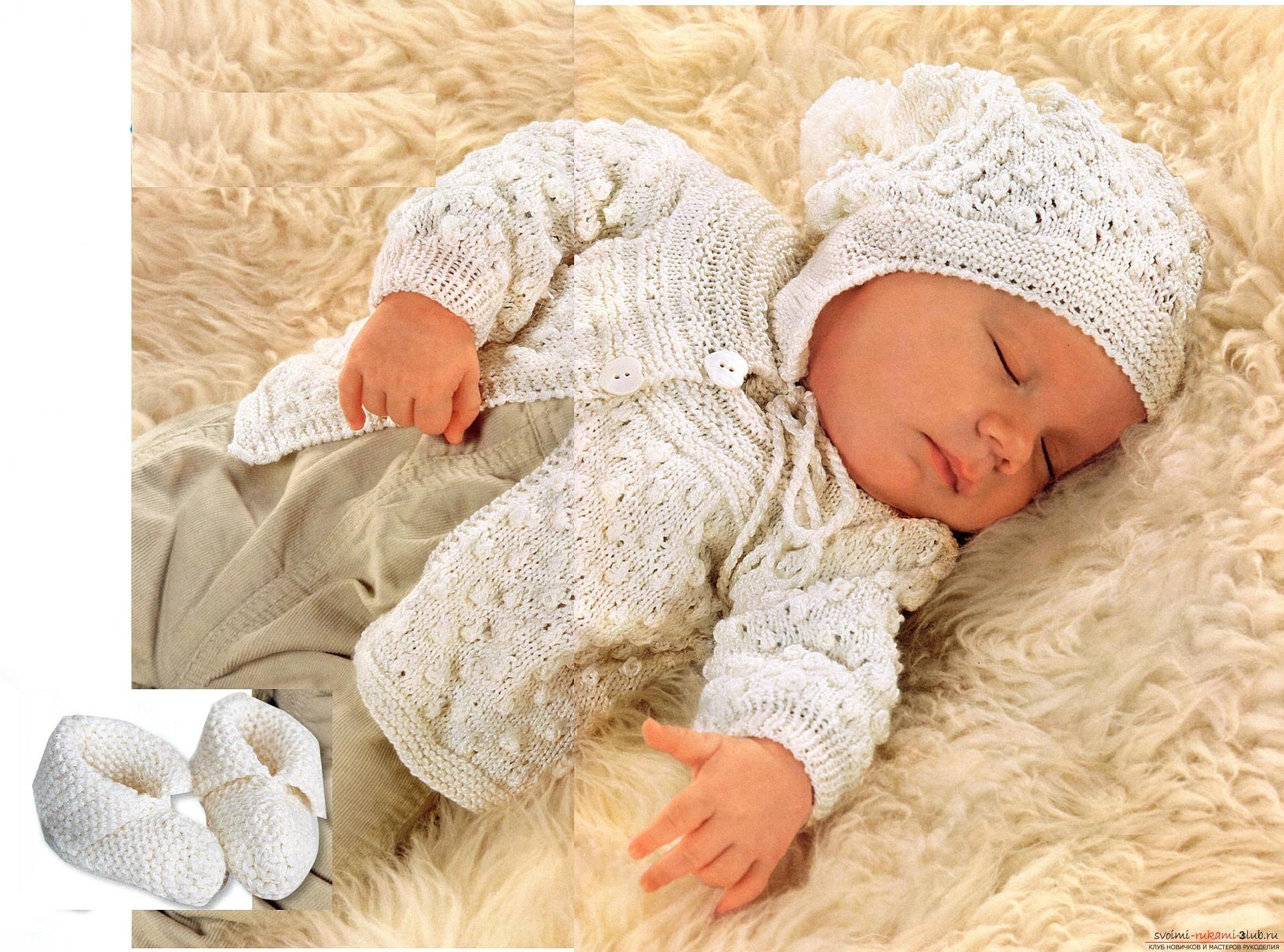 Вязание спицами для новорожденных, советы и хитрости по ...
