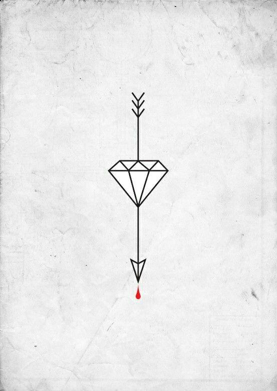 Tattoo Idea Simple Diamond Diamond Tattoos Arrow Tattoos Arrow Tattoo