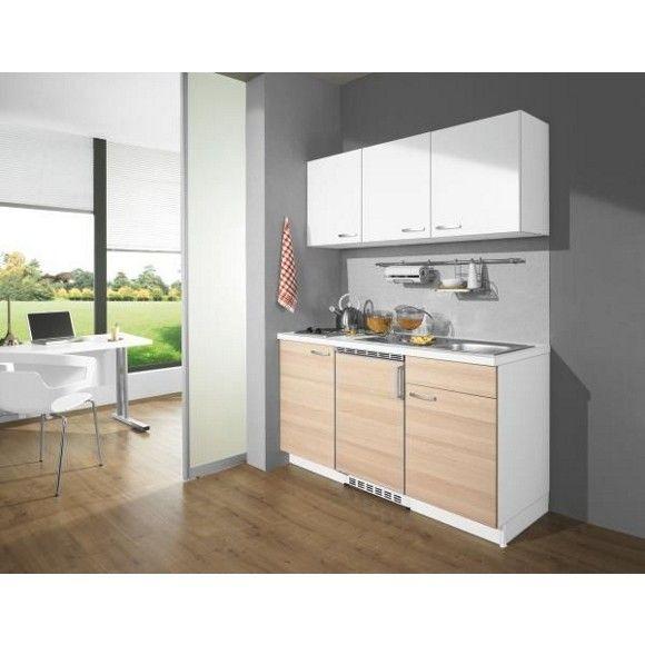 Küchenblock in Weiß und Akaziefarbe: mehr Funktionalität & Komfort ...