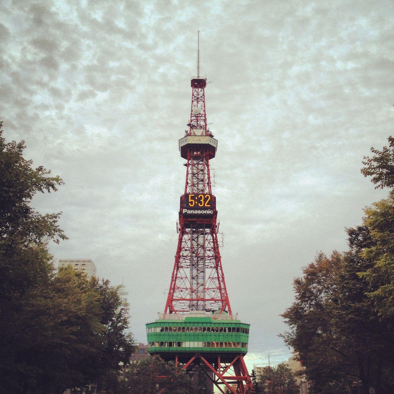 삿포로의 중심에 있는 오도리공원의 TV 타워
