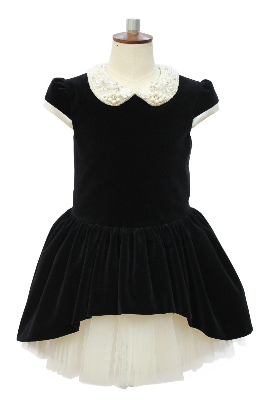 Black velvet dress david charles childrens wear kiddostyle