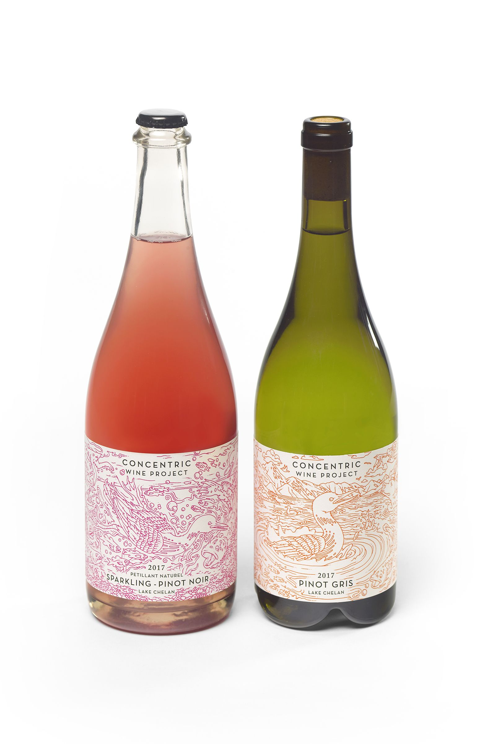 Concentric Wine Project Labels By Eric Nyquist With Images Wine Bottle Rose Wine Bottle Bottle