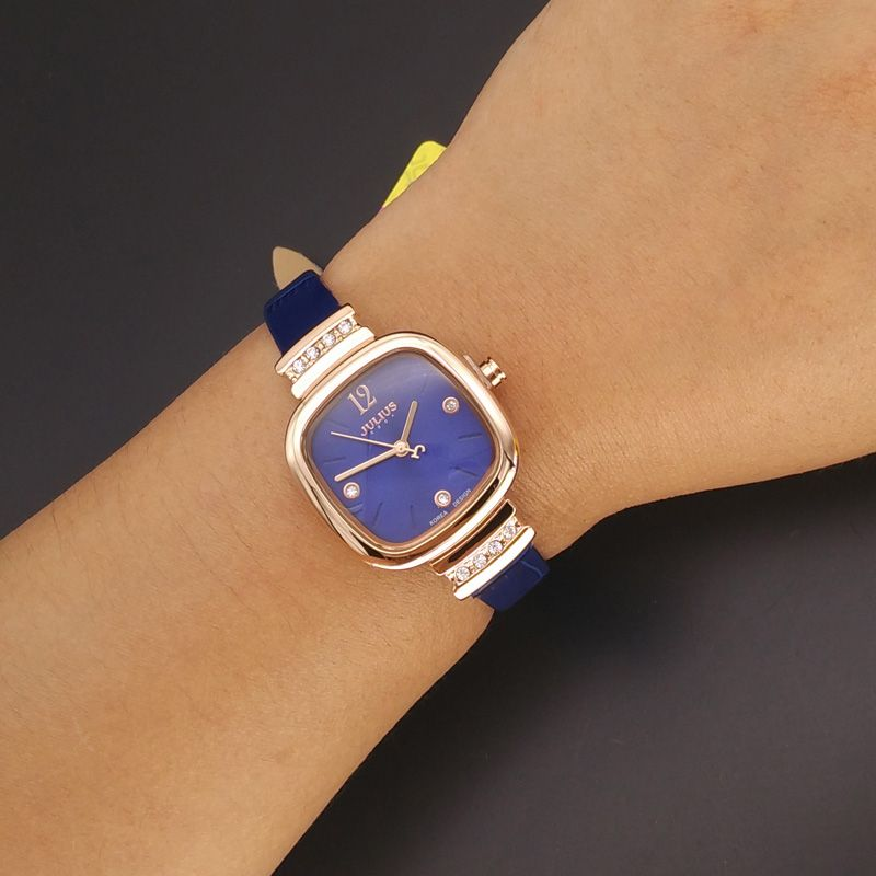 New Julius Lady Women S Wrist Watch Elegant Simple Square Fashion